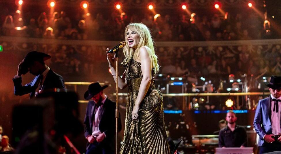 Kylie performing on Queen Elizabeth's birthday in 2018
