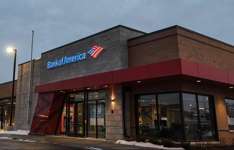 Bank of America branch in Eagan, Minnesota