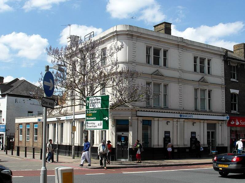 Barclays Bank branch in the Catford district of London