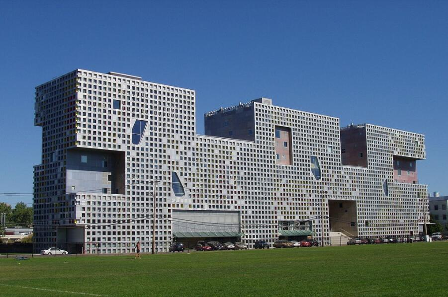 Simmons Hall on the MIT campus