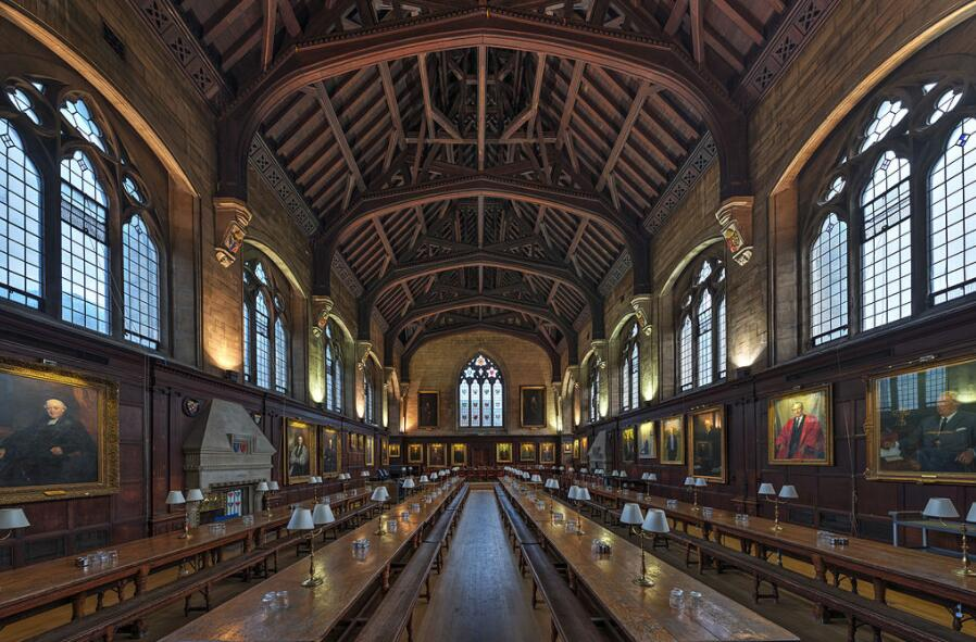 Dining room at Balliol College, Oxford