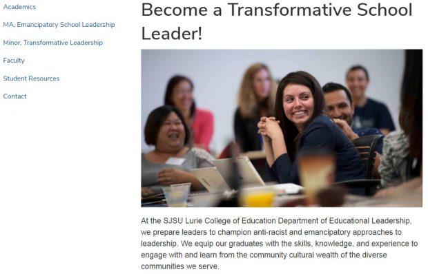 SJSU Become a Transformative School Leader